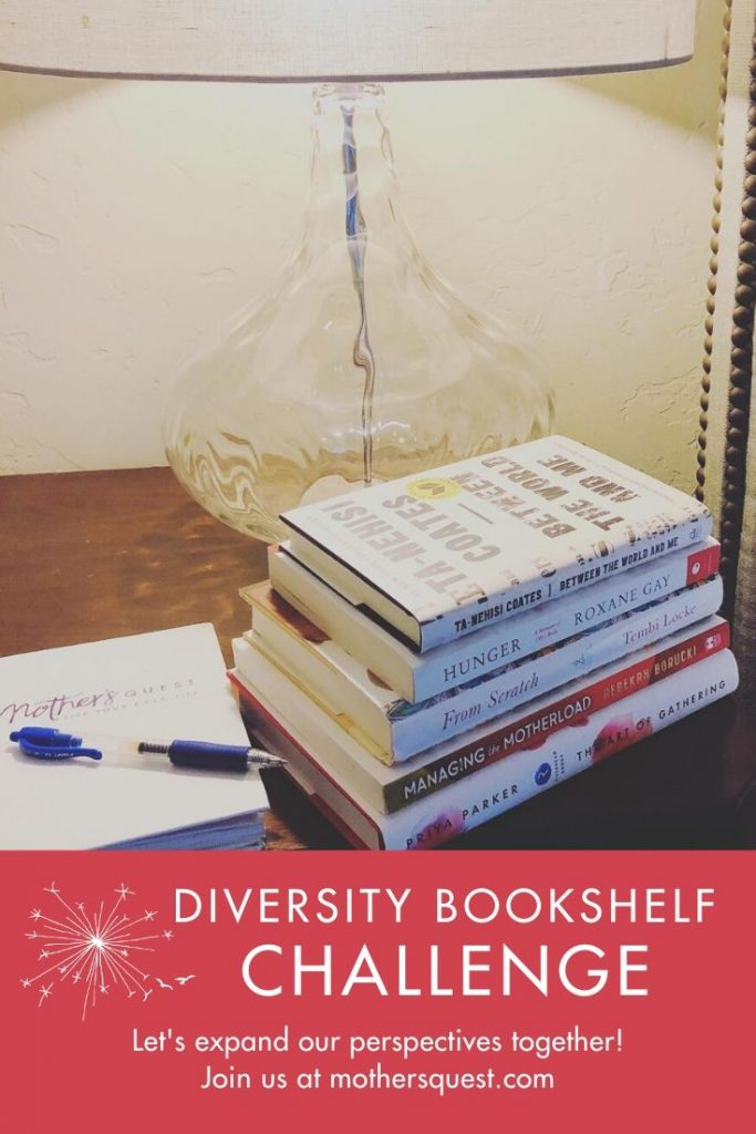 Stack of books with diverse authors