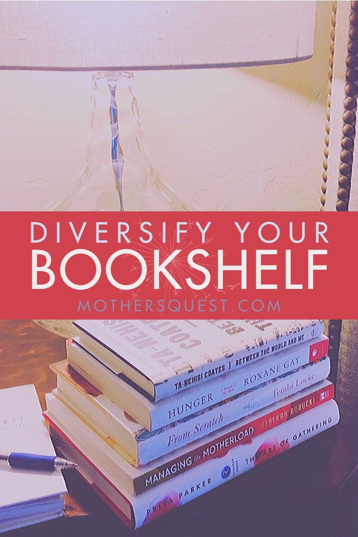 Stack of books by diverse authors